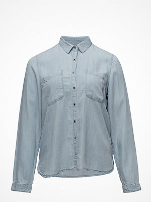 Violeta by Mango Bleached Wash Denim Shirt