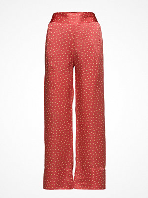 Rabens Saloner röda byxor med tryck Dot Wide Leg Pant