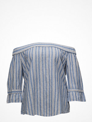 Violeta by Mango Linen Off-Shoulder Blouse