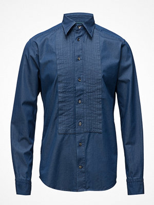 Eton Dark Blue Denim Tuxedo Shirt