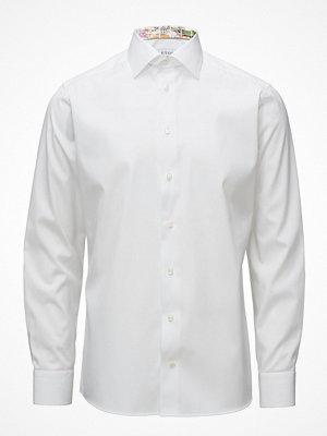 Eton White Shirt With Skyline Of Lisbon Print