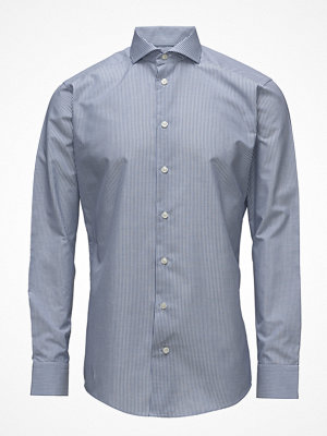 Eton Blue Cotton & Linen Shirt