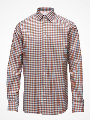 Eton Red & Blue Check Button Under Shirt