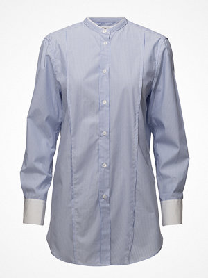 Filippa K Striped Band Collar Long Shirt