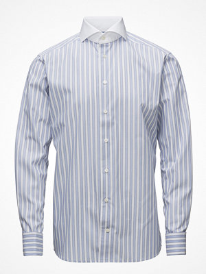 Eton Light Blue Striped French Cuff Shirt
