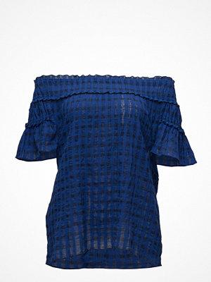 Violeta by Mango Check Off-Shoulder Blouse