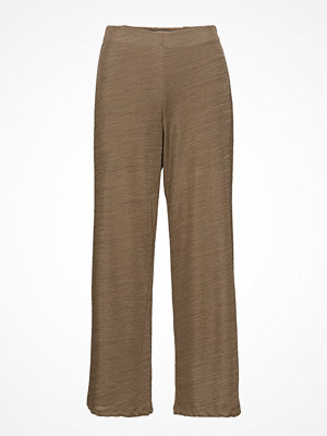 Mango omönstrade byxor Straight Textured Trousers