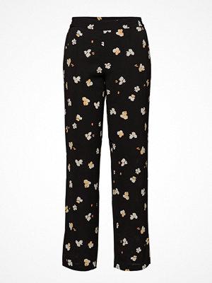 Second Female svarta byxor med tryck Jamaja Trousers