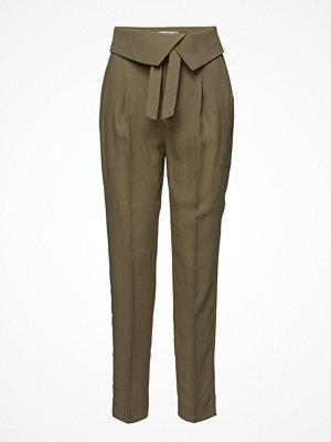 Mango omönstrade byxor Paper Bag Soft Trousers