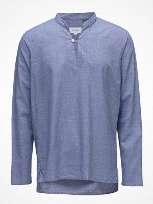 Eton Blue Lightweight Twill Popover Shirt