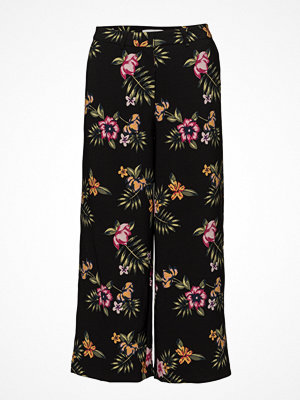2nd One mönstrade byxor Eloise 881 Crop, Black Tropical, Pants