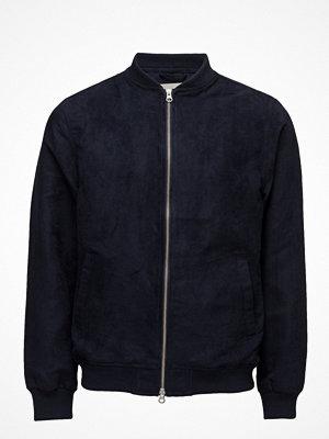 Bomberjackor - Knowledge Cotton Apparel Suede Jacket - Grs