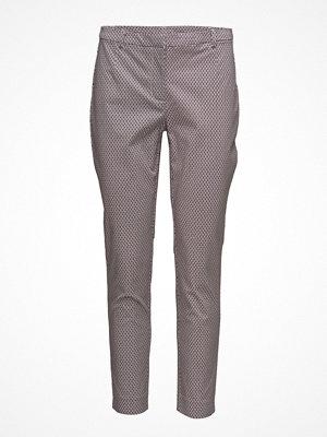 Park Lane grå mönstrade byxor Cigarette Pants