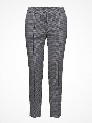 Mango grå mönstrade byxor Straight Checkered Trousers
