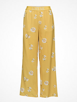 Holzweiler gula byxor med tryck Moja Trousers