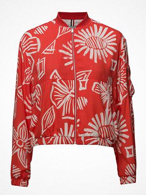 Tommy Jeans röd bomberjacka med tryck Tjw Summer Floral Print Bomber