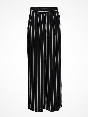 ESPRIT Collection svarta randiga byxor Pants Woven