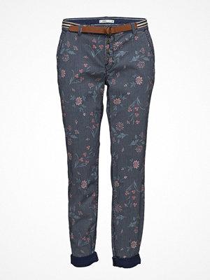 Edc by Esprit grå byxor med tryck Pants Woven