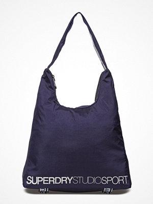 Superdry marinblå axelväska Studio Tote
