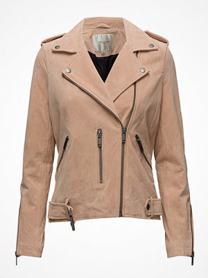 Selected Femme Sfsanella Leather Jacket Apricot Camp