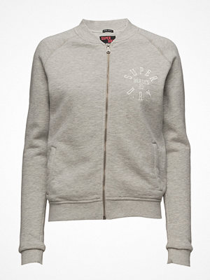 Superdry ljusgrå bomberjacka East Applique Bomber Jacket