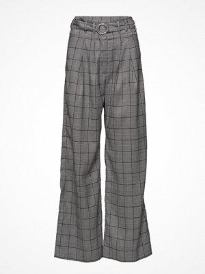 Samsøe & Samsøe grå rutiga byxor Mella Pants 10595