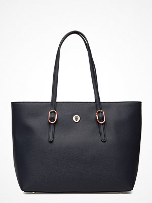 Tommy Hilfiger svart shopper Th Buckle Tote