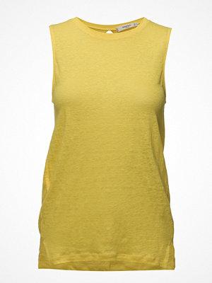 Mango Linen-Blend Top