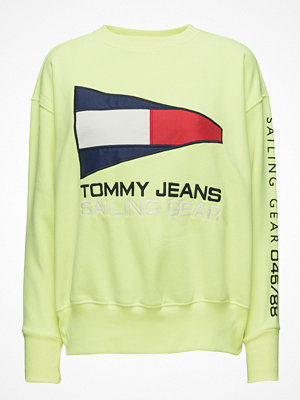 Tommy Jeans Tjw 90s Sailing Logo Neon Crew