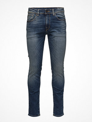 Jeans - Selected Homme Shnslim-Leon 1428 Mid.Blue St Jeans Sts