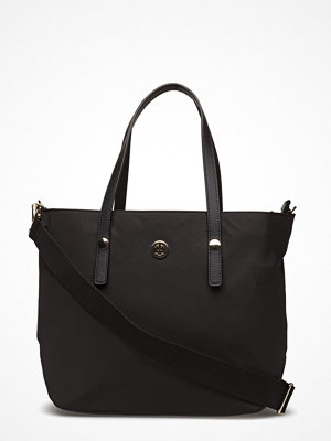 Tommy Hilfiger svart shopper Tommy City Med Tote Nylon