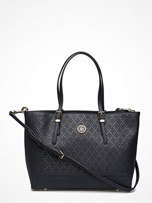 Tommy Hilfiger svart shopper Honey Med Tote Perf