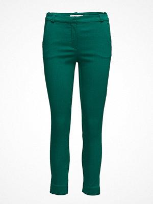 Mango mörkgröna byxor Crop Slim-Fit Trousers