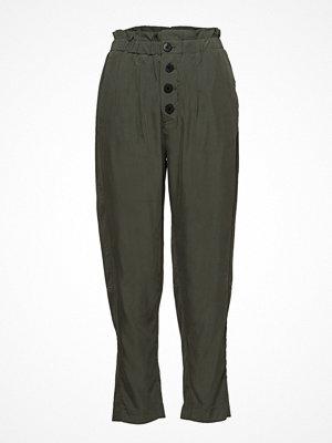 Mango omönstrade byxor Buttoned Modal Trousers
