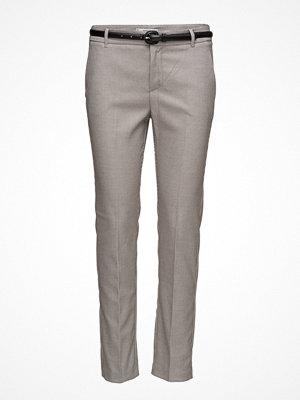 Mango ljusgrå byxor Cotton Suit Trousers