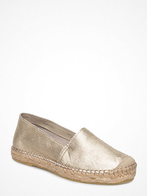 Selected Femme Sfmarley Gold Leather Espadrilles