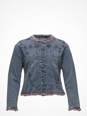 Jeansjackor - Violeta by Mango Fringed Denim Jacket