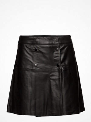 Selected Femme Sfzadig Mw Leather Skirt J Camp