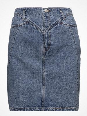 Mango Interwoven Cord Denim Skirt