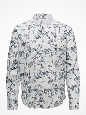 Knowledge Cotton Apparel Poplin Shirt W/Allover Bird Print-