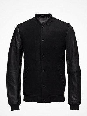 Bomberjackor - Superdry Varsity Wool Leather Bomber