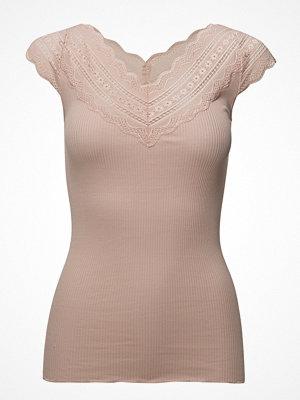 T-shirts - Rosemunde Silk T-Shirt Regular Ss W/Wide Lace