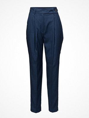 Mango marinblå byxor High-Waist Trousers