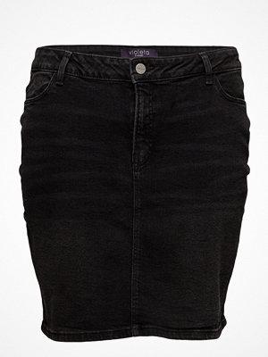 Violeta by Mango Dark Denim Skirt