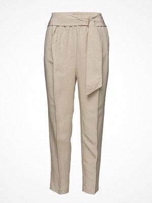 Mango omönstrade byxor Belt Line Trousers