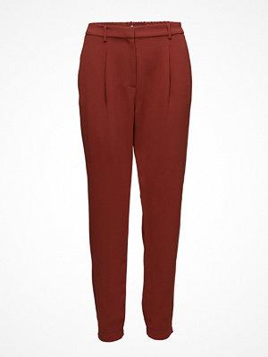 Mango mörkröda byxor Pleated Suit Trousers