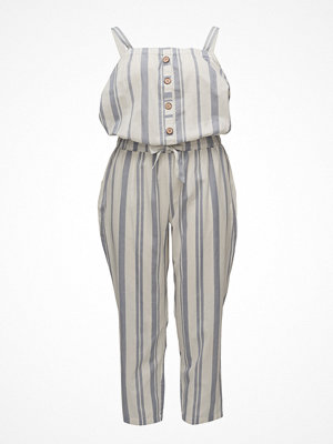 Violeta by Mango Striped Long Jumpsuit
