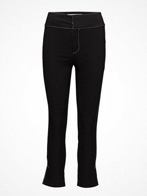 Mango svarta byxor Contrast Seam Trousers