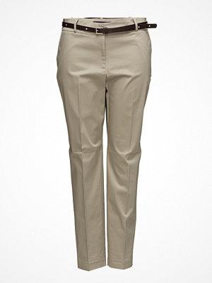 Violeta by Mango omönstrade byxor Belt Cotton-Blend Trousers