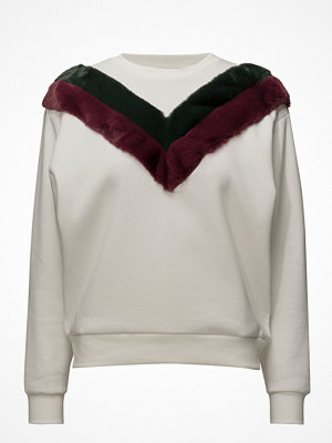 Mango Velvet Panel Sweatshirt